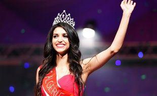 Fatma Zohra Chouib, sacrée Miss Algérie 2014 le 5 septembre 2014.