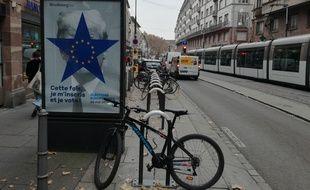 Les affiches sont apparues dans les rues de Strasbourg en ce milieu de semaine, pour encourager à s'inscrire sur les listes électorales pour les européennes de 2019.
