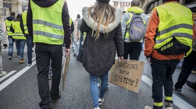 «Gilets jaunes» à Bruxelles  Première manifestation émaillée d incidents  dans la capitale 37d7fc03e4b
