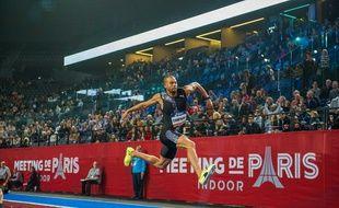 L'athlète Benjamin Compaoré en février 2020 à Paris