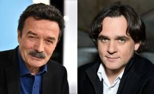 Edwy Plenel, fondateur de Mediapart et Riss, directeur de «Charlie Hebdo».