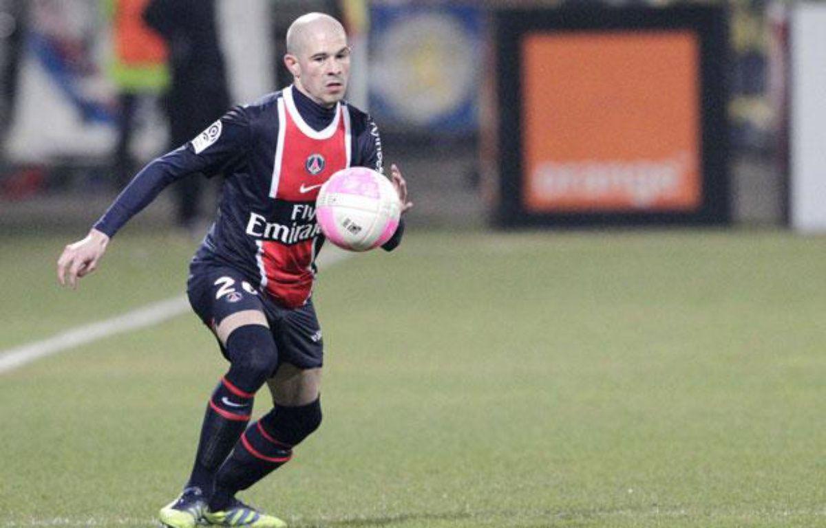 Le défenseur du PSG Christophe Jallet, le 25 février 2012 à Lyon. – FAYOLLE PASCAL/SIPA