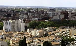 Toulouse, vue d'en haut.