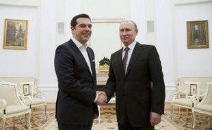 Le Président Vladimir Poutine reçoit le Premier ministre grec Alexis Tsipras, le 8 avril 2015