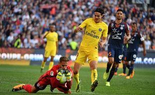 Cavani n'avait pas réussi à tromper Lecomte au match aller.