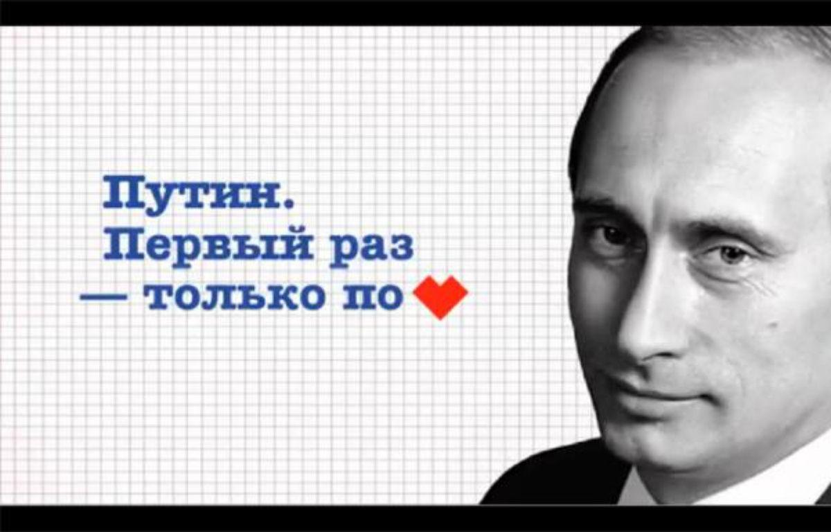 Capture d'écran d'une vidéo de soutien à Vladimir Poutine. – 20minutes.fr
