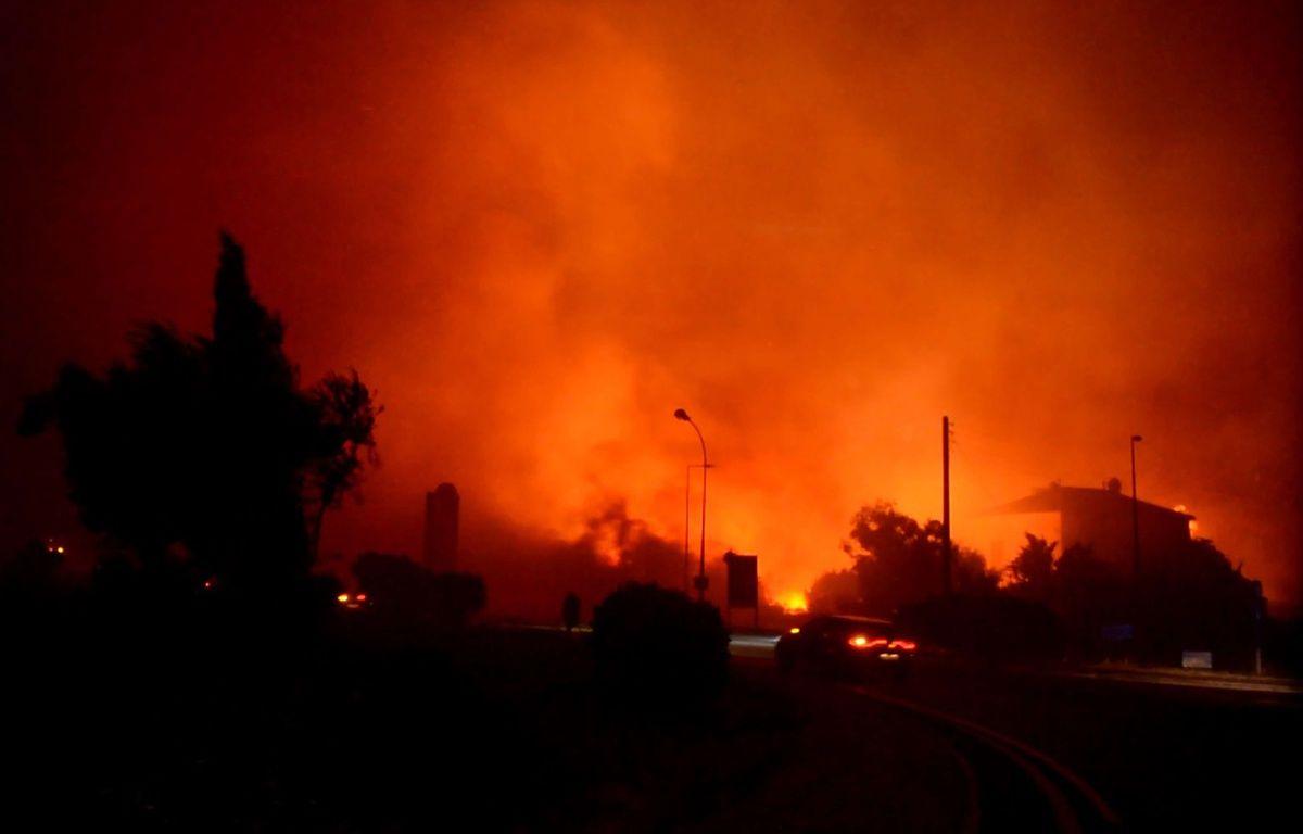 Incendie en Haute Corse sur la commune de Biguglia, le 24 juillet 2017 – FLORIANNE AMBLARD/SIPA