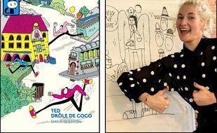 Émilie Gleason a  dessiné en direct dans les locaux de 20 Minutes