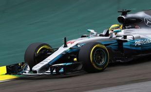 La Mercedes de Lewis Hamilton, à Interlagos (Brésil), le 11 novembre 2017