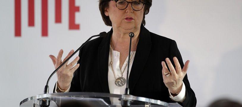 Martine Aubry présente ses vœux à la presse à Lille.