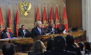 Le nouveau Premier ministre monténégrin Dusko Markovic s'exprime devant le Parlement, le 28 novembre 2016.