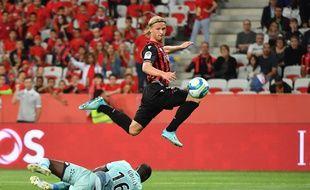 Kasper Dolberg avec l'OGC Nice.