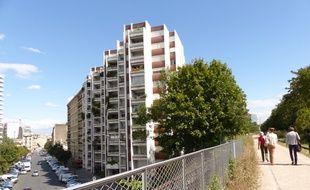 21 août 2014, Visite commentée du tronçon d'1,3 km de la petite ceinture qui a été réaménagé dans le 15e arrondissement de Paris.