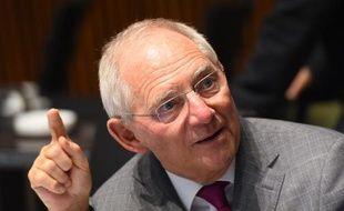 Le ministre des Finances allemand Wolfgang Schäuble à Luxembourg, le 14 octobre 2014