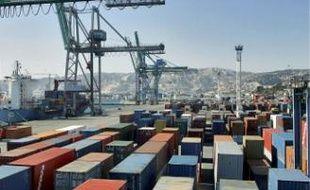 Le terminal conteneurs de Marseille,à nouveau perturbé par une grève tournante.