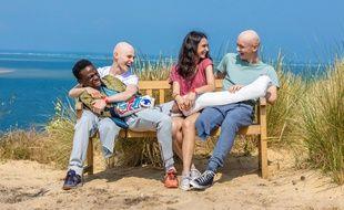 Azize Diabate (Mehdi), Audran Cattin (Thomas), Tom Rivoire (Clément) et Louise Espinosa (Roxane) jouent dans la saison 2 des «Bracelets rouges».
