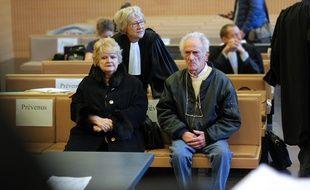 Danielle et Pierre Le Guennec, en février 2015,  au palais de justice de Grasse