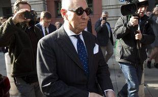 Roger Stone à sa sortie du tribunal, le 15 novembre 2018 à Washington.