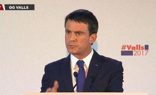 Manuel Valls, le soir du 1er tour de la primaire à gauche, dimanche 22 janvier.