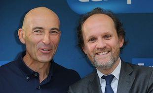 Nicolas Canteloup et son producteur Jean-Marc Dumontet, en 2017.