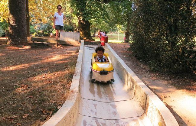 La piste de Babibob du parc de Procé à Nantes.
