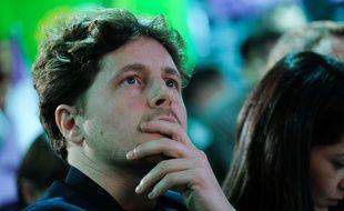 Julien Bayou, secrétaire national du parti Europe Écologie Les Verts, lors d'un meeting en février 2020 à Paris.