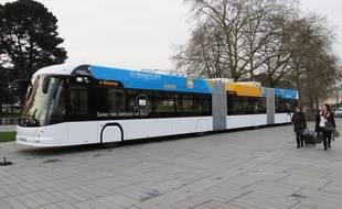 Le nouvel e-busway de Nantes sera 100% électrique.