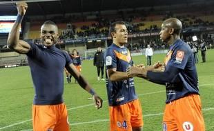 Henri Bedimo, ici aux côtés des expérimentés Hilton et Camara, était devenu champion de France avec Montpellier en 2012.