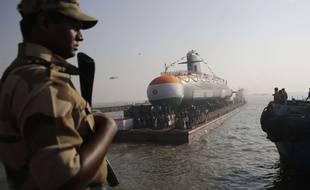 Un sous-marin Scorpène, fabriqué par Naval Group, ici en Inde en 2018.