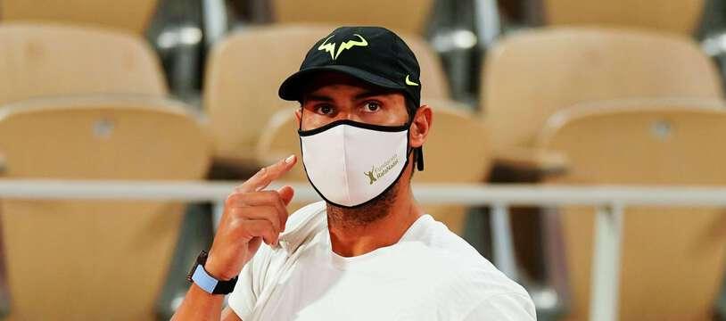 Rafael Nadal, le 25 septembre 2020 sur le Central de Roland-Garros.