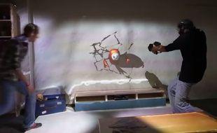 L'expérience RoomAlive de Microsoft repose sur la technologie de Kinect.