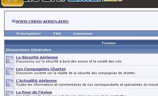 Capture d'écran de crash.aerien.info