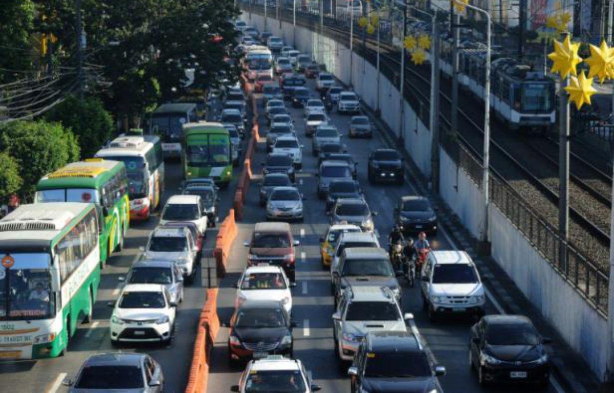 Embouteillages à Manille, le 11 janvier 2016 aux Philippines – JAY DIRECTO AFP
