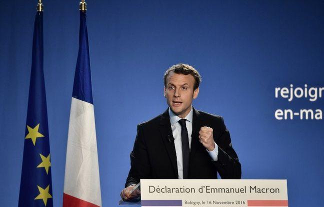 Emmanuel Macron annonce sa candidature.
