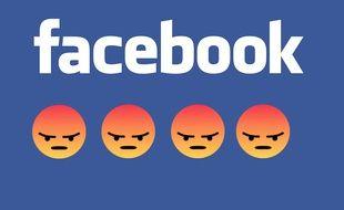 Photomontage du logo de Facebook.