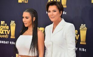 Les stars de la télé-réalité Kim Kardashian et Kris Jenner
