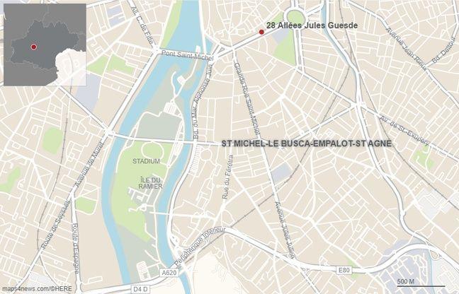 Le mur effondré longeait les allées Jules-Guesde, entre le Palais de Justice et la maison de retraite Plénitude Saint-Michel.