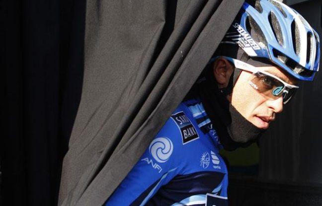 Le coureur espagnol Alberto Contador, triple-vainqueur du Tour de France, le 5 février 2012, à Majorque.