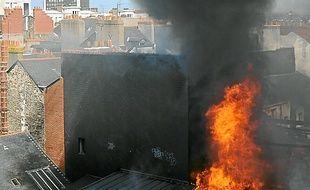 L'incendie de la Châtelaine, en 2012.