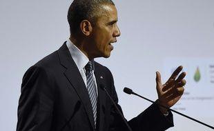 Barack Obama à la COP21, le 30 novembre 2015, au Bourget.