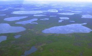 Vue aérienne du Nord Est de la Sibérie, en 2007.
