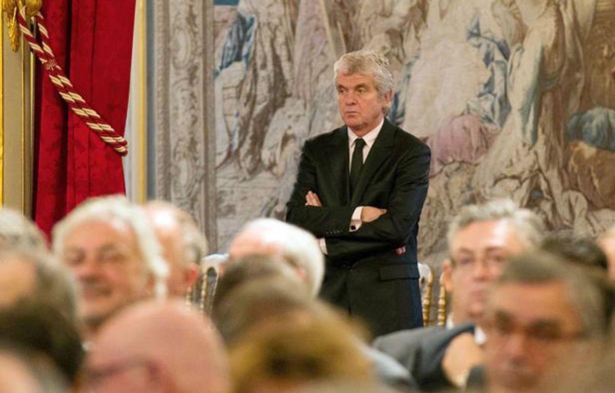 Claude Serillon à la conférence de presse de François Hollande en janvier 2014 – Sipa