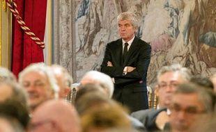 Claude Serillon à la conférence de presse de François Hollande en janvier 2014