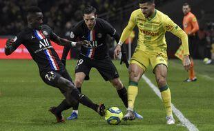 Mehdi Abeid face au PSG en février.