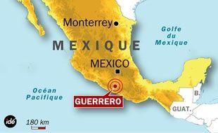 L'épicentre du séisme est situé à Guerrero