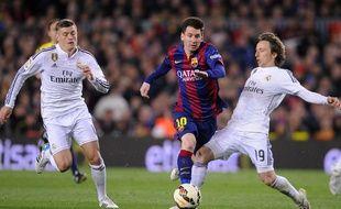 Lionel Messi lors de Barça-Bayern le 22 mars 2015.