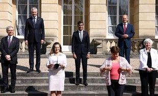 Les ministres des Finances du G7, ce samedi à Londres
