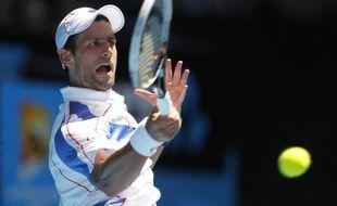 Novak Djokovic, le 23 janvier 2011 à Melbourne.