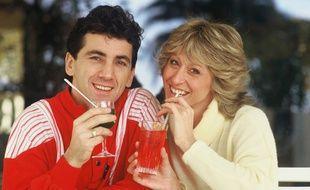 Peter et Sloane, les interprètes du tube «Besoin de rien envie de toi», au Midem à Cannes en 1985.