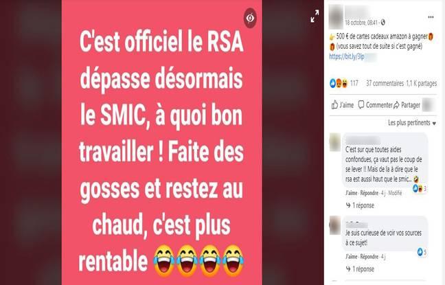 Non, le RSA ne dépasse pas le SMIC.